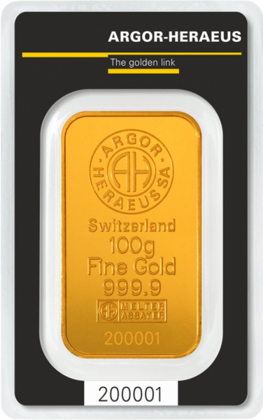 Золотой слиток, 100 г