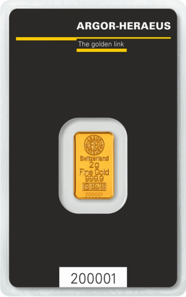 Kuldplaat 2 g