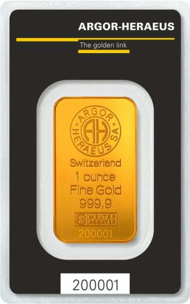 Kuldplaat 31,1 g (1 oz)