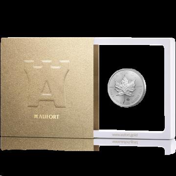 31,1 г (1 oz) серебряная монета Канадская «Maple Leaf», в подарочной упаковке