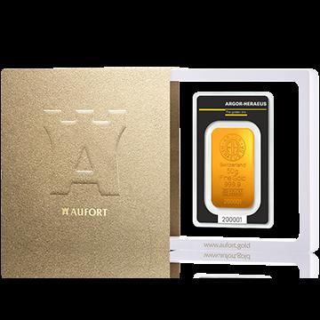 Золотой слиток, 50 г, в подарочной упаковке