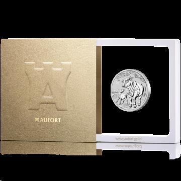31,1 г (1 oz) серебряная монета Австралийский Лунар 2021 (год Буффало), в подарочной упаковке