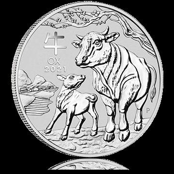1 oz Australian Silver Ox Lunar Coin (2021)