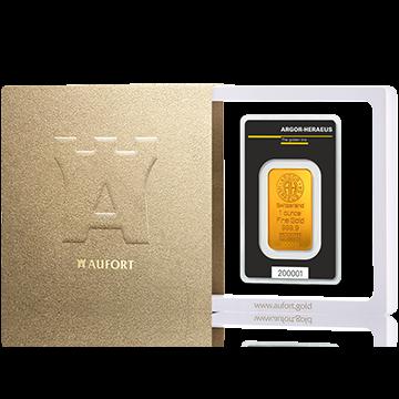 Золотой слиток, 1 oz, в подарочной упаковке