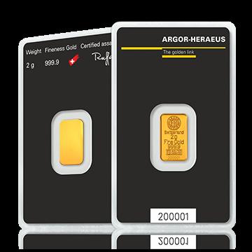 2 gram Gold Bar